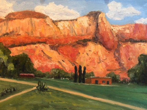 Noon on the Lawn at Ghost Ranch